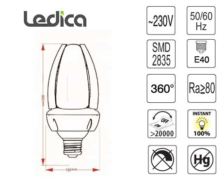 Led Specifications bulbs E40