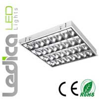 Led 4xT8 fixture 60cm built-in