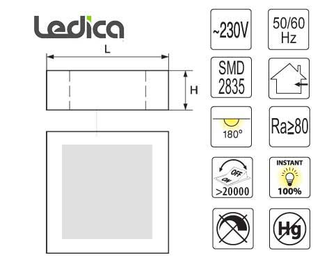 Led 24W specification ceiling