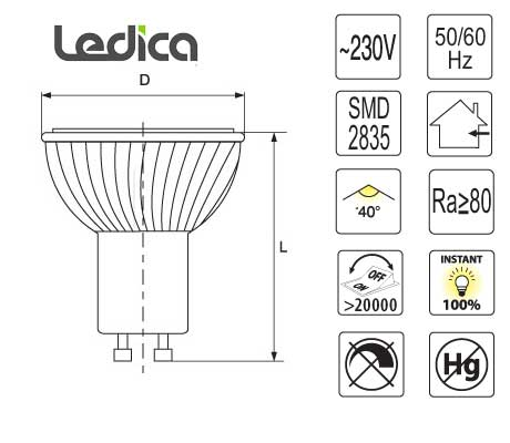Led Specifications spotlight